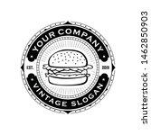 hand drawn burger hamburger... | Shutterstock .eps vector #1462850903