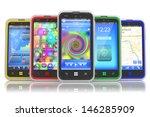 set of touchscreen smartphones | Shutterstock . vector #146285909