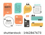 quote box and speech bubble... | Shutterstock .eps vector #1462867673