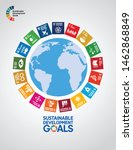 sustainable development goals   ... | Shutterstock .eps vector #1462868849