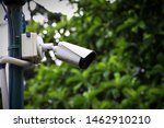 Cctv Camera On A Lamp Post For...