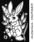 cute little bunny.  vector... | Shutterstock .eps vector #1462936829