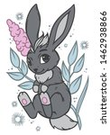 cute little bunny.  vector... | Shutterstock .eps vector #1462938866