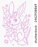 cute little bunny.  vector... | Shutterstock .eps vector #1462938869
