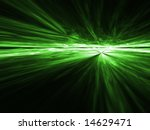 Gamma Green aerial explosion - fractal design - stock photo