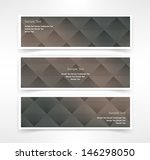 vector set of three header... | Shutterstock .eps vector #146298050