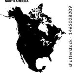 vector map of north america... | Shutterstock .eps vector #1463028209