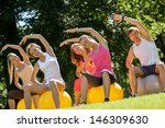 young caucasians working out in ... | Shutterstock . vector #146309630