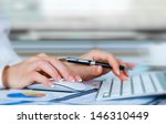 business accounting  | Shutterstock . vector #146310449