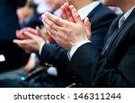 business people hands... | Shutterstock . vector #146311244
