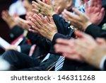 business people hands... | Shutterstock . vector #146311268