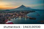 Mayon Volcano And Legazpi City...