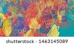artistic sketch structure.... | Shutterstock . vector #1463145089