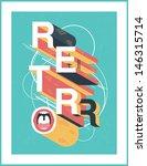 retro poster. cartoon text ... | Shutterstock .eps vector #146315714