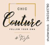 Chic Couture Follow Your Own...