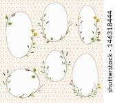vector frames with flowers | Shutterstock .eps vector #146318444