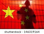 Beijing   Apr 24 Silhouette Of...