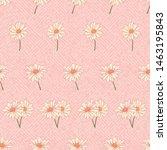 daisy  chamomile  flower... | Shutterstock . vector #1463195843