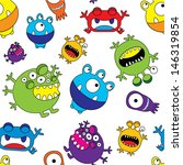 cute colorful monster seamless... | Shutterstock .eps vector #146319854