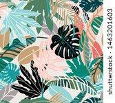 foliage seamless pattern ...   Shutterstock .eps vector #1463201603