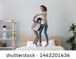 happy african family mixed race ... | Shutterstock . vector #1463201636