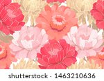 Vector Floral Pattern. Pink An...