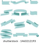 pastel blue ribbon set... | Shutterstock .eps vector #1463212193