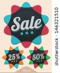 vector sale badges | Shutterstock .eps vector #146321510