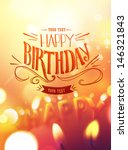 birthday card design with... | Shutterstock .eps vector #146321843