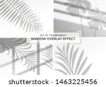 set of transparent shadow... | Shutterstock .eps vector #1463225456