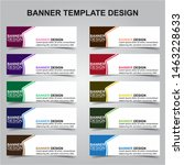 set of modern banners... | Shutterstock .eps vector #1463228633