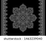 set of mandala pattern and... | Shutterstock .eps vector #1463239040