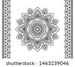 set of mandala pattern and... | Shutterstock .eps vector #1463239046