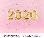 new year 2020 celebration. gold ... | Shutterstock . vector #1463242610