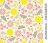 seamless pattern with hand... | Shutterstock .eps vector #1463268533