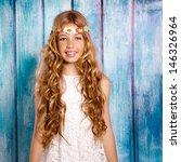 Blond Happy Hippie Children...
