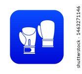 boxing gloves icon digital blue ... | Shutterstock . vector #1463271146