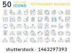 set of vector line icons of... | Shutterstock .eps vector #1463297393