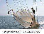 view on a fishing net used for... | Shutterstock . vector #1463302709