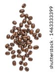 coffee beans isolated on white... | Shutterstock . vector #1463333399