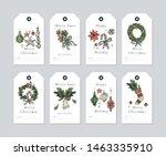 vector linear design christmas... | Shutterstock .eps vector #1463335910