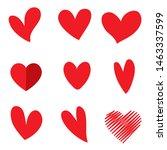 hand drawn hearts. design... | Shutterstock .eps vector #1463337599