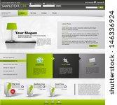 business website template | Shutterstock .eps vector #146336924