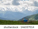 caucasus mountain's farm ... | Shutterstock . vector #146337014