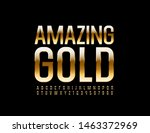 vector amazing gold alphabet... | Shutterstock .eps vector #1463372969