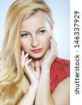 portrait of beautiful woman... | Shutterstock . vector #146337929
