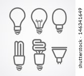 light lamps icon collection | Shutterstock .eps vector #146341649