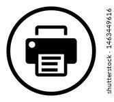 printer icon vector. office...