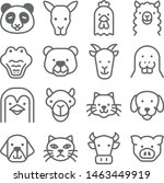 animal icon set. contains such... | Shutterstock .eps vector #1463449919