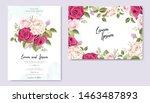 wedding invitation set with... | Shutterstock .eps vector #1463487893